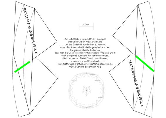Tür 13 Advent201613 Zehneck PP A F Rund.pdf Beim Dodekula muss beim Hintergrundstoff viel mehr Nahtzugabe sein, damit aus quadratisch rund werden kann.