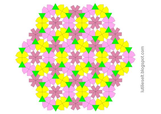 Muster von Dorotheas Blog neu gemischt: Bijzondere Zeshoek und ein neuer Verbindungsstern.