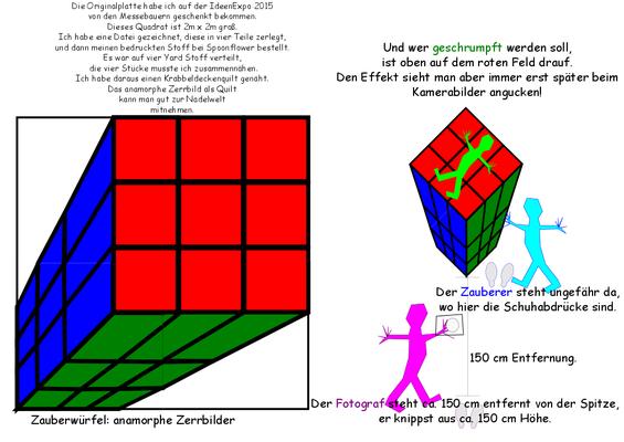 Anamorphes Zerrbild, wie funktioniert das?