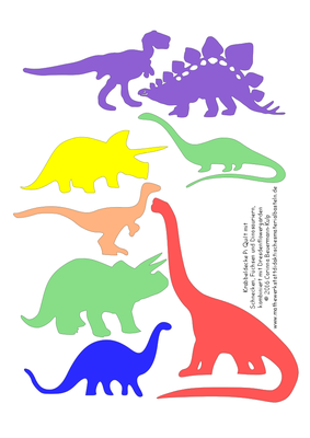 Die Dinosaurier muss der Plotter ausschneiden.