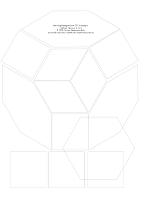 Wedding Hexagon Block EPP Shapes