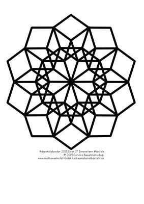 Türchen 23 Innenstern Mandala