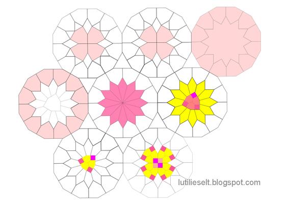 Muster von Dorotheas Blog neu gemischt: Speelbal und Bijzondere Zeshoek.