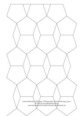 Zu spät! Türchen 20 Passacaglia Pattern Pentagon grosz