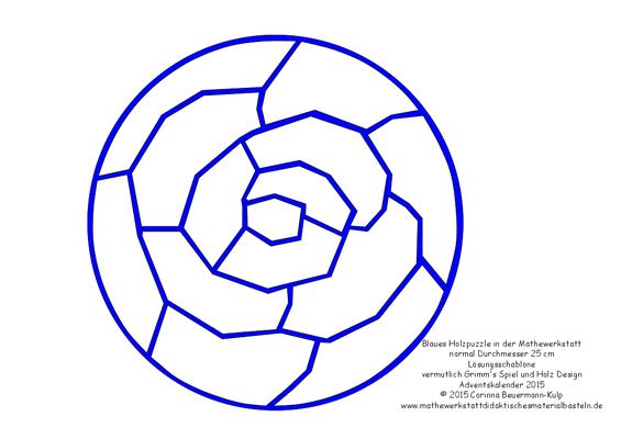 Kirigami für das blaue Holzpuzzle