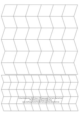 Zu spät! Türchen 19 Passacaglia Pattern Raute breit