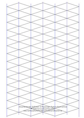 Zu spät! Türchen 22 Passacaglia Pattern Raute schmal+Dreiecke