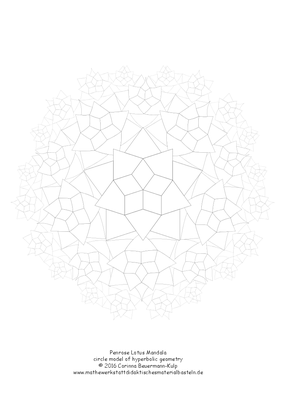 Penrose Lotus Mandala = circle model of hyperbolic geometry
