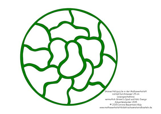 Kirigami für das grüne Holzpuzzle