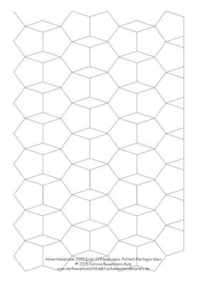 Zu spät! Türchen 21 Passacaglia Pattern Pentagon klein