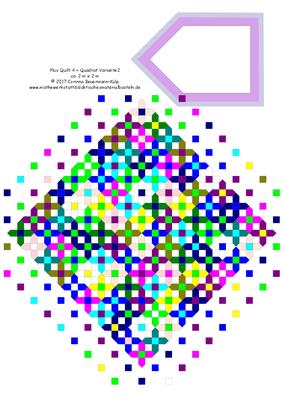 Das ist eine Plus Quilt Variante. Plus Quilt 4 + Quadrat Variante2
