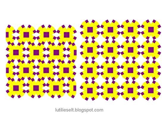 Muster von Dorotheas Blog neu gemischt: Speelbal,  Speldenkussens und Bijzondere Zeshoek.