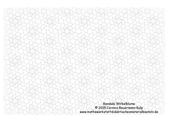 Mandala Wirbelblume als freier Download