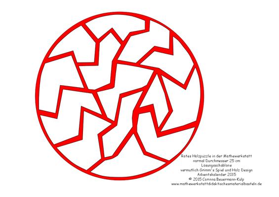 Kirigami für das rote Holzpuzzle