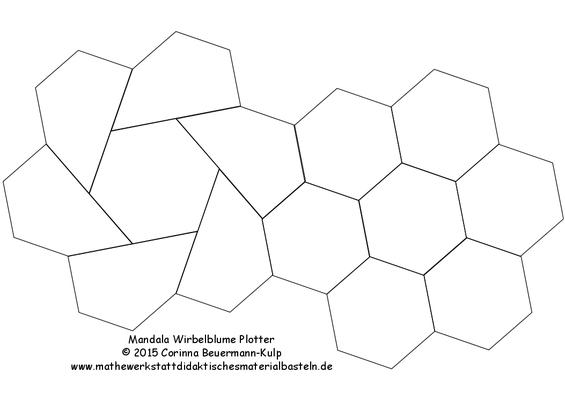 Mandala Wirbelblume Plotter als PDF Datei zum freien Download