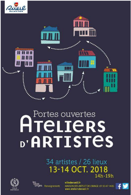 Participation Journées Portes Ouvertes Ateliers d Artiste. Rueil Malmaison 2018