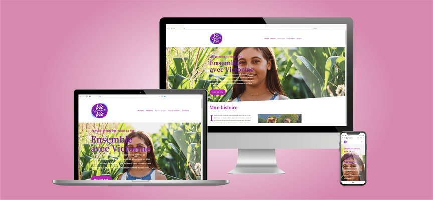 Association Vic pour la Vie | Site web vitrine Wordpress + Divi