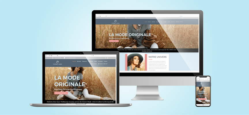 Version Mode Suisse | Site web E-commerce Wordpress + Divi + Woocommerce