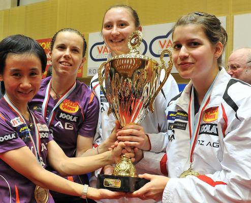 2. Champions League Sieg vs Budaörs - Liu Jia, Iveta Vacenovska, Sofia Polcanova, Petrisa Solja