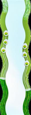 """""""Ranken"""" - Spiegel auf Holzplatte mit Modellierung und Spachteltechnik in Acrylfarbe, Glassteinen und Lackierung, 36 x 150 cm"""