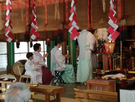 月次祭 五代目も祭典奉仕させて頂きました