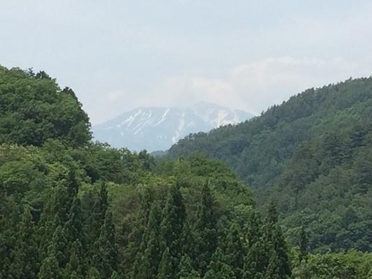 道の駅より御嶽山を望む