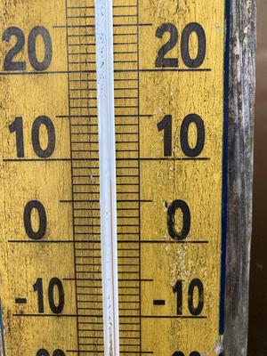 朝の気温 8℃