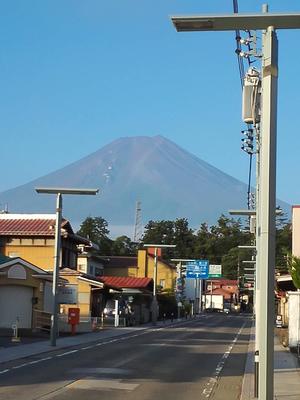 29日朝の富士山