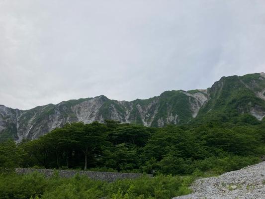 元谷から北壁を望む