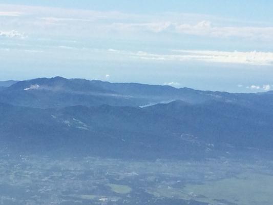 箱根と芦ノ湖も見えました