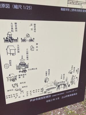 雄山神社境内図