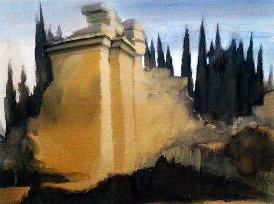 """© Siegfried Schütze """"Ruine eines Römischen Badehauses - Hierapolis 1991"""