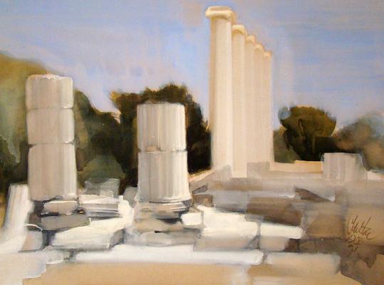 """© Siegfried Schütze """"Die Säulen von Miletos"""" 1991"""