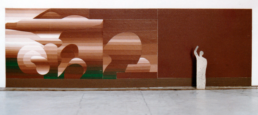 © Siegfried Schütze, Kindergarten in Berlin-Hohenschönhausen, Entwurf Giebelgestaltung, 1985