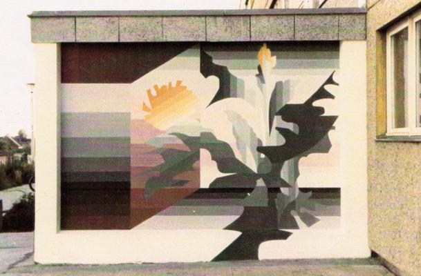 © Siegfried Schütze, Eingangsbereich Kindergarten in Berlin-Hohenschönhausen, Entwurf und Ausführung, 1986