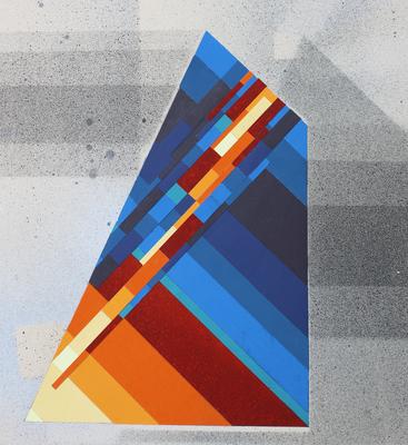 """© Siegfried Schütze, Entwurf für den Brunnen - Thema """"Prisma"""", 1989/90"""