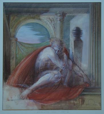 """© Siegfried Schütze 1981/82 Vorstudie """"Aporisches Idol"""""""