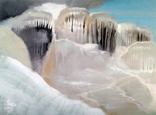 """© Siegfried Schütze """"Kalkfelsen von Pamukkale"""" 1991"""