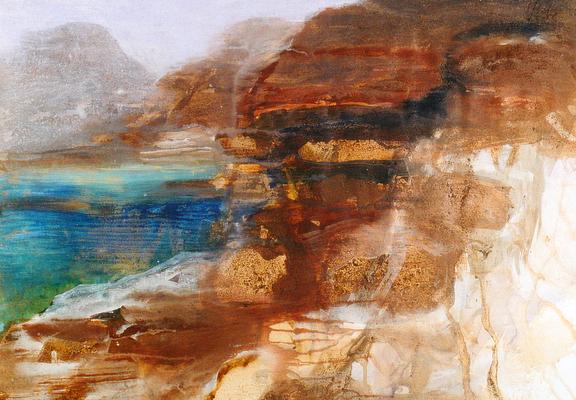 """© Siegfried Schütze """"Küstenlandschaft Kreta"""" 1998"""