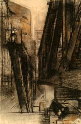 """© Siegfried Schütze """"Berlin - Bauplatz Palast der Republik"""" 1973"""