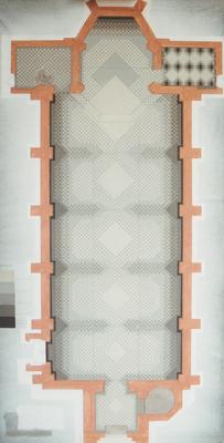 © Siegfried Schütze, Entwurf 1:50 Bodenmosaik St. Joseph, 1992