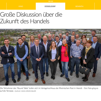 """Bei der Rheinischen Post habe ich die Initiative am """"Round Table"""" als Expertin für Stadtteilmarketing vertreten."""
