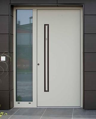 INOTHERM Tür und Fassade mal Anders Moderene Optik mit Grtiffmulde und elekr. mech. Verriegelung