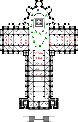 Cathedral of Pure Reason (A=human adept; S=singularity; O=silent human onlooker; Ω =silent artificial onlooker)