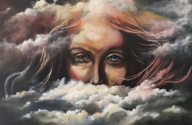 Peinture à l'huile sur toile. 18 x 30 po - 45,72 x 76,2 cm - 2019