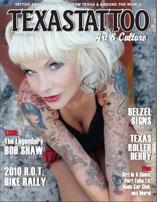 Cover Tattoo Magazin Texas |Sandy P. Peng