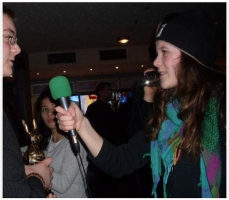 Interview nach der Preisverleihung beim Filmfestival 2010.