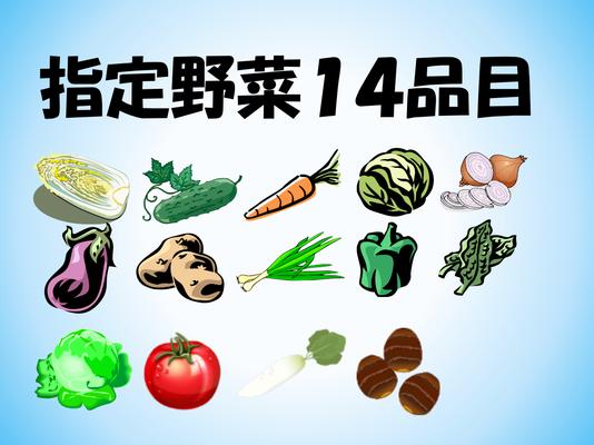 消費量が多く国民生活にとって重要な野菜として野菜生産出荷安定法で定められた野菜。