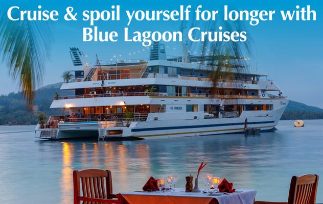 Blue Lagoon Cruises Fiji Kreuzfahrten Südsee Inselhopping Fiji beim Spezialisten Olaf Diroll Reiselotsen buchen