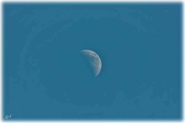 Der Mond bei Tageslicht
